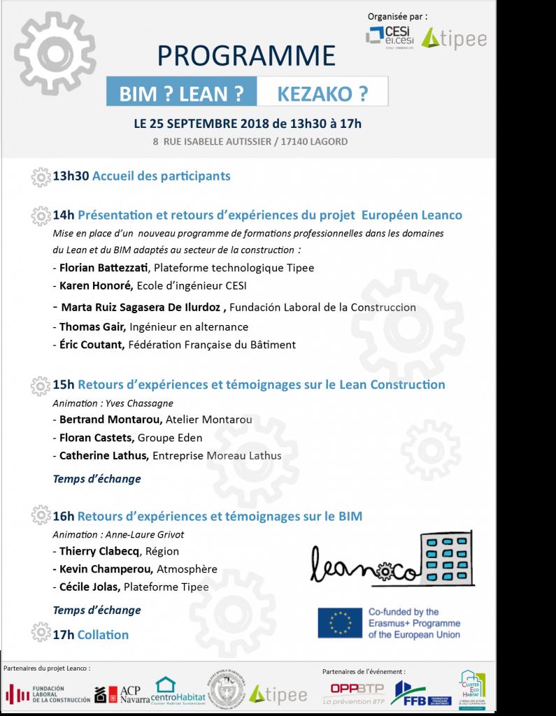 Programme LEAN BIM KEZAKO par TIPEE